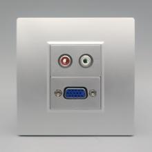 银色86型二位光纤面板双SC光钎接口信息面板宽带电脑模块接口面板批发