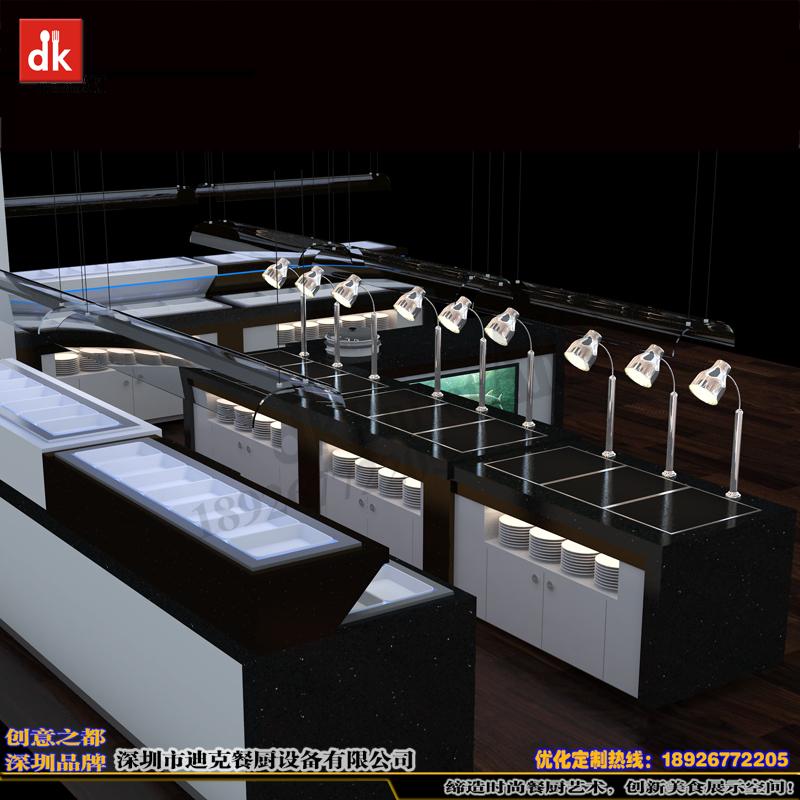 出口欧洲华人餐馆自助餐台 移动布菲台设计制作 多功能自助餐台