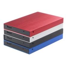 硬盘盒2.5寸SATA串口USB3.0金属拉丝外壳固态SSD移动硬盘盒 2.5寸硬盘盒