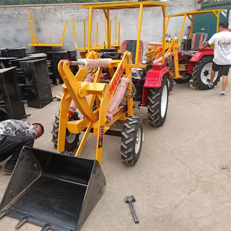 工程四轮电动铲车小型四驱装载机 华帆制造小铲车低碳环保