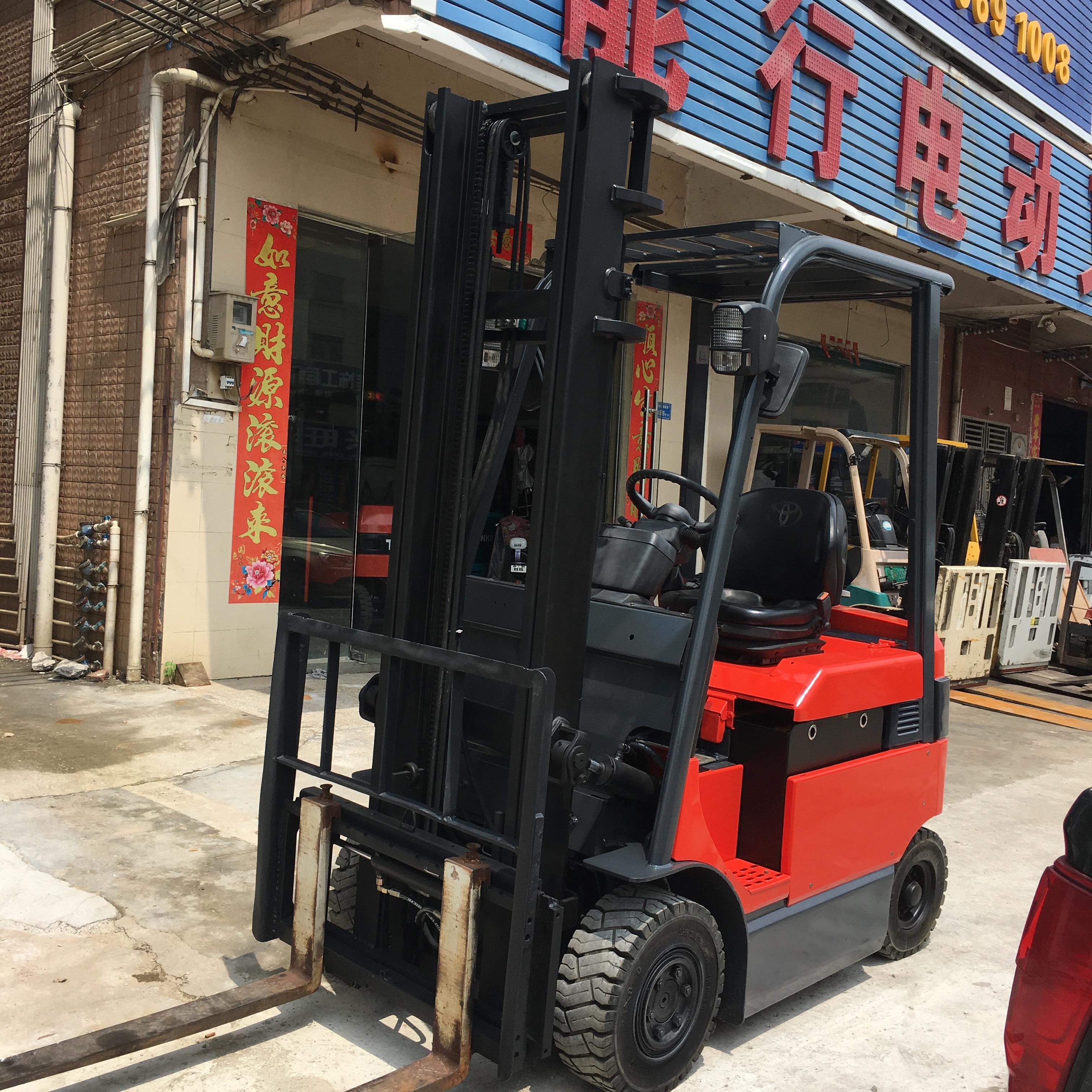 二手进口2吨丰田电动叉车出租两工升高4米带左右摆