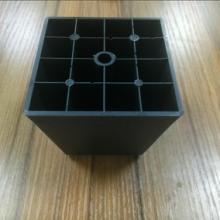 黑色沙发脚 黑色塑胶沙发脚 80公分高方形塑胶沙发脚