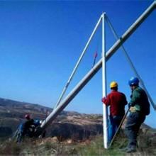 铝合金电力拔杆铝合金人字线杆拔杆手摇绞磨立杆机批发