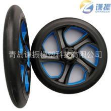 10寸pu不发泡实心一体轮 折叠车平衡车童车电动滑板车轮图片