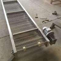 厂家直销不锈钢铝件爬坡网带输送机定制卓远图片