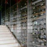 超市镜面不锈钢酒架定制-厂家-价格