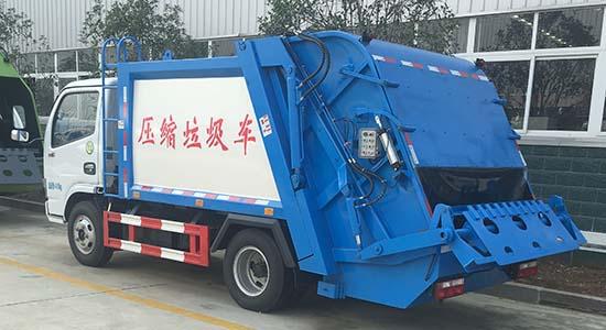 6方压缩垃圾车多利卡压缩式垃圾车销售