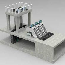 一体化泵闸+智慧监控+一体化+厂家定制+泵站+水闸图片
