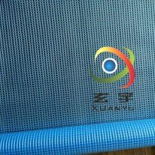 现货供应0.5mm厚2.1米宽500D/9*9PVC透明夹网布, 透明夹网布蓝图片