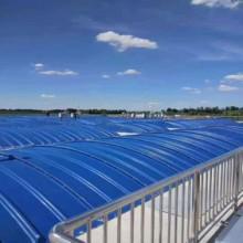 污水處理廠水池加蓋玻璃鋼拱形蓋板圖片