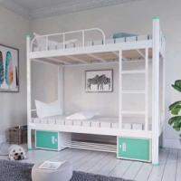 成龙教学厂家直销加厚钢架铁床 双层公寓床 学生公寓床价格 上床下桌价格